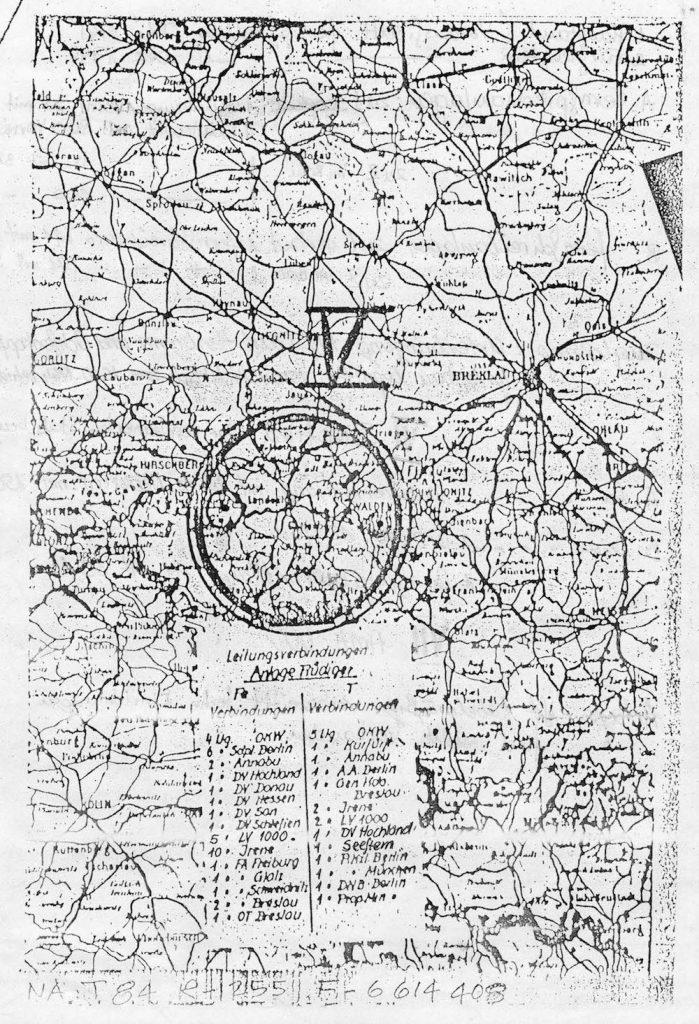 Mapa z lokalizacją Rüdigera - Zbiory: Wydawnictwo Technol