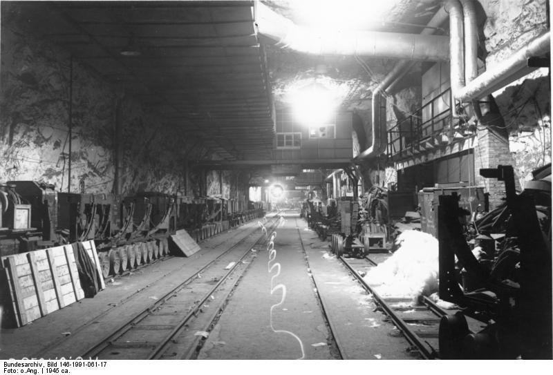Podziemia Mittelbau-Dora - Źródło: Bundesarchiv Bild 183-1985-0123-027