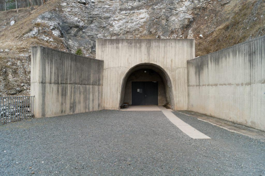 Wejście do podziemi Mittelwerk (Mittelbau-Dora)