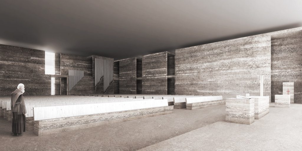 Minimalistyczne wnętrze kościoła - Adamiczka Consulting