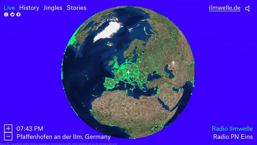 Mapa ze stacjami radiowymi z całego świata - radio.garden