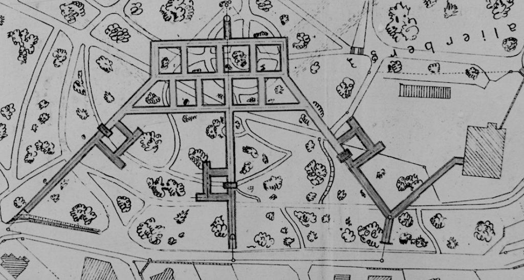 Plan jeleniogórskich podziemi pod Wzgórzem Kościuszki