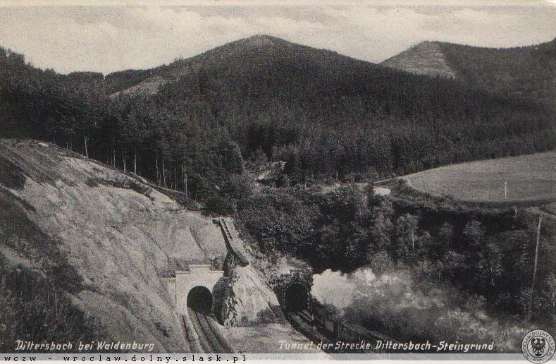 Tunel pod Małym Wołowcem składa się z dwóch równoległych nitek (rur tuneli) - Źródło: dolny-slask.org.pl