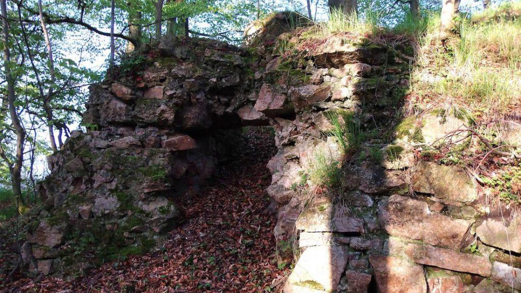 Zamek Koziniec - Z tego zamku również pozostały tylko fragmenty murów - Foto: Jan Wieczorek