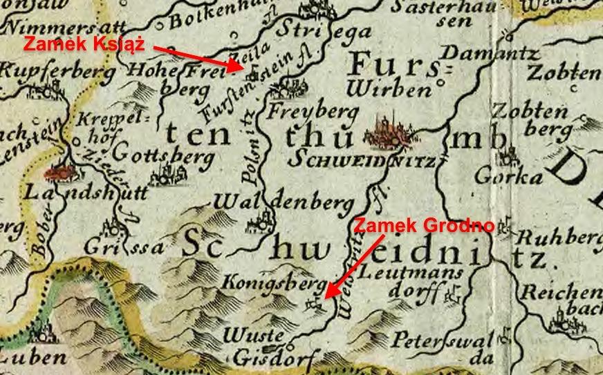 Fürstenstein (Zamek Książ) i Königsberg (Zamek Grodno)