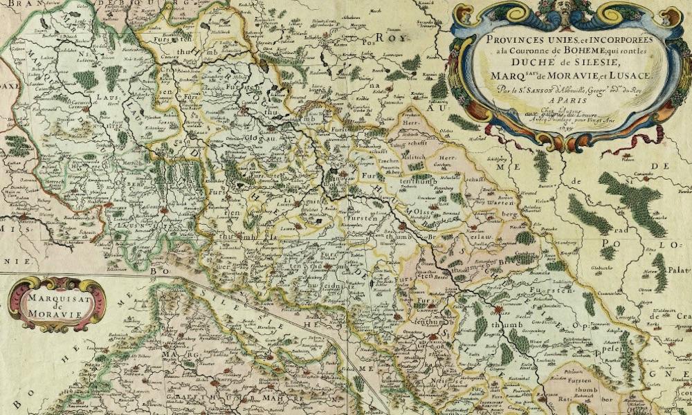 Kolorowa Mapa Slaska Z 1679 Roku Eloblog