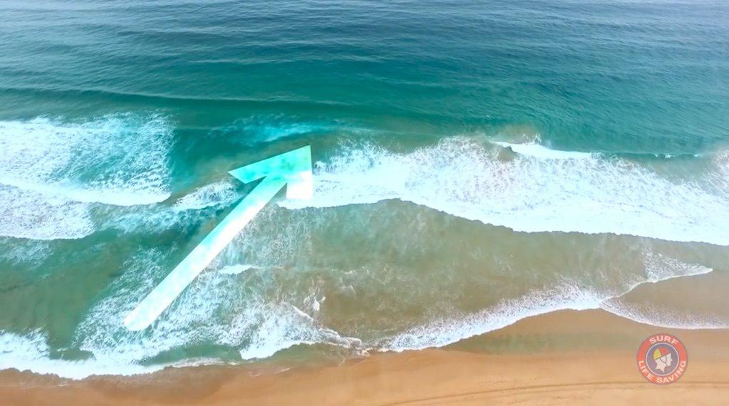Prądy strugowe nad morzem - Źródło: Surf Life Saving Australia / YouTube