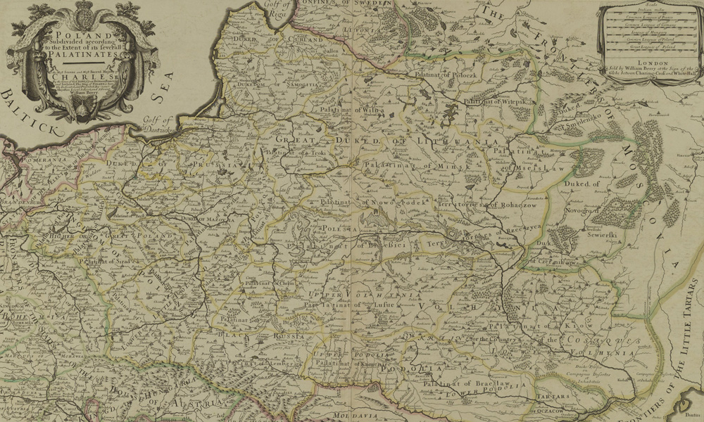 Angielska Stara Mapa Polski Z 1683 Roku Eloblog