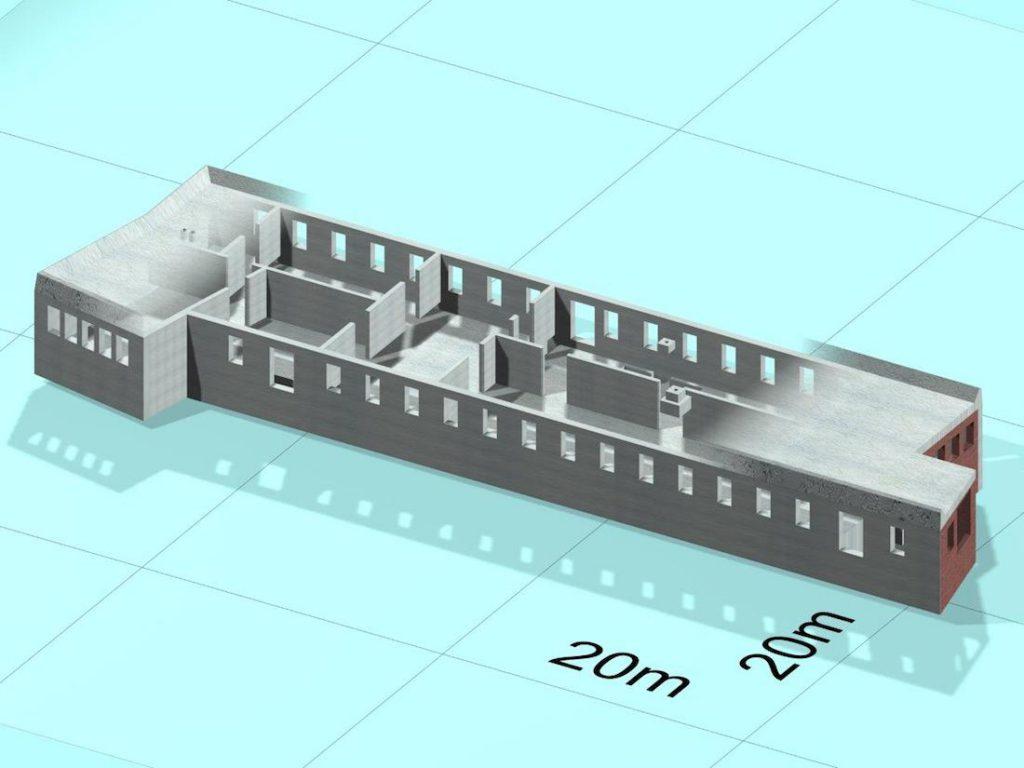 """Model 3D """"Kasyna"""" na Osówce - Zbiory: Jerzy Cera"""
