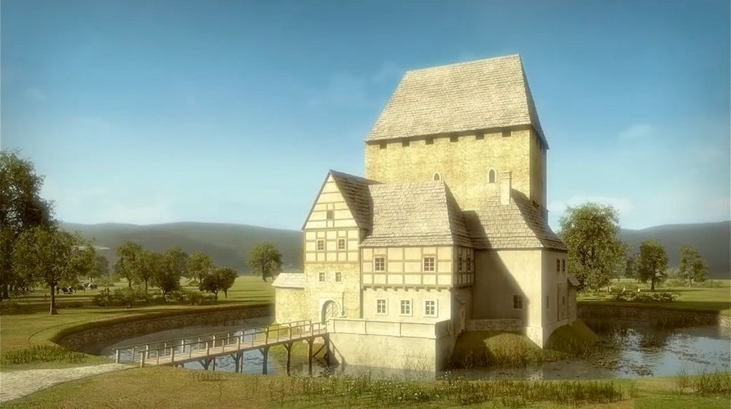 Przebudowa Wieży Książęcej w Siedlęcinie po pożarze w 1575 roku - Wizualizacja: Śląskie Studio Architektury