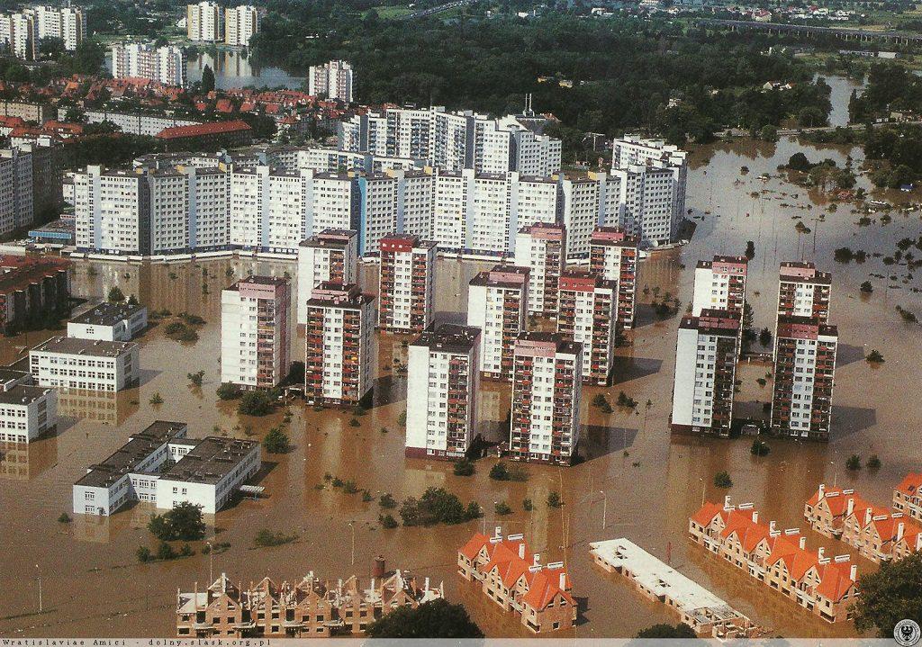Powódź we Wrocławiu - Kozanów - Źródło: dolny-slask.org.pl
