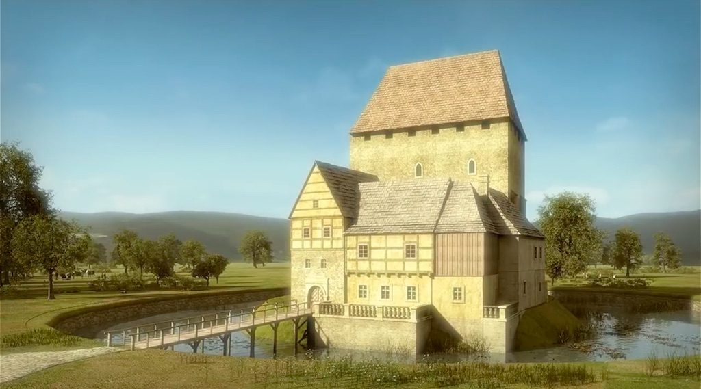 Wieża w Siedlęcinie około 1750 roku - Wizualizacja: Śląskie Studio Architektury
