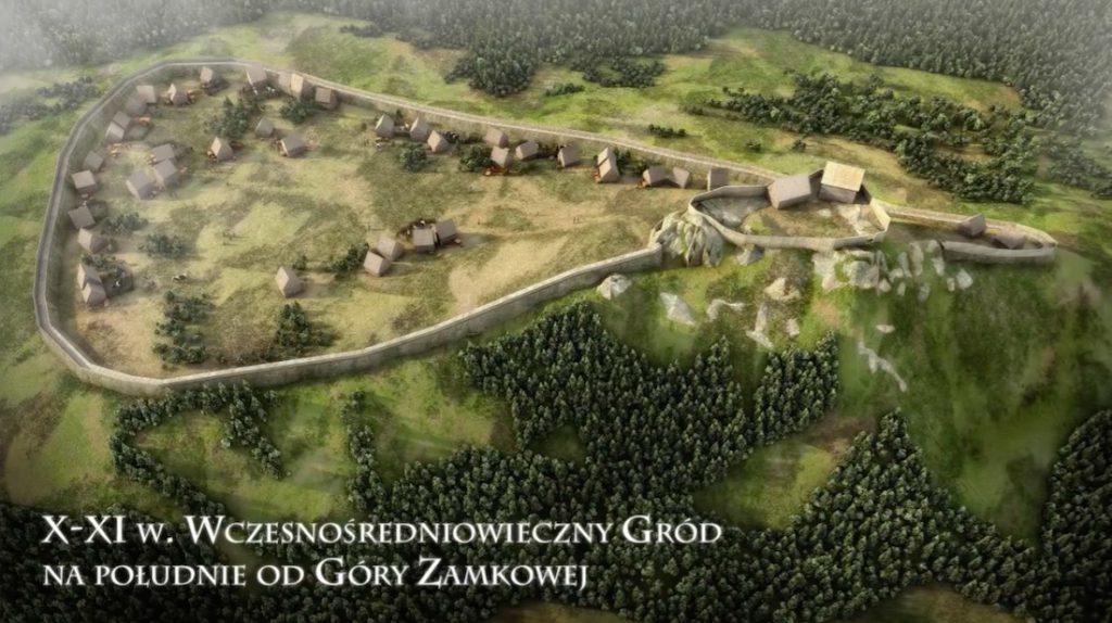 Wczesnośredniowieczny gród X-XI wiek - Wizualizacja: Śląskie Studio Architektury