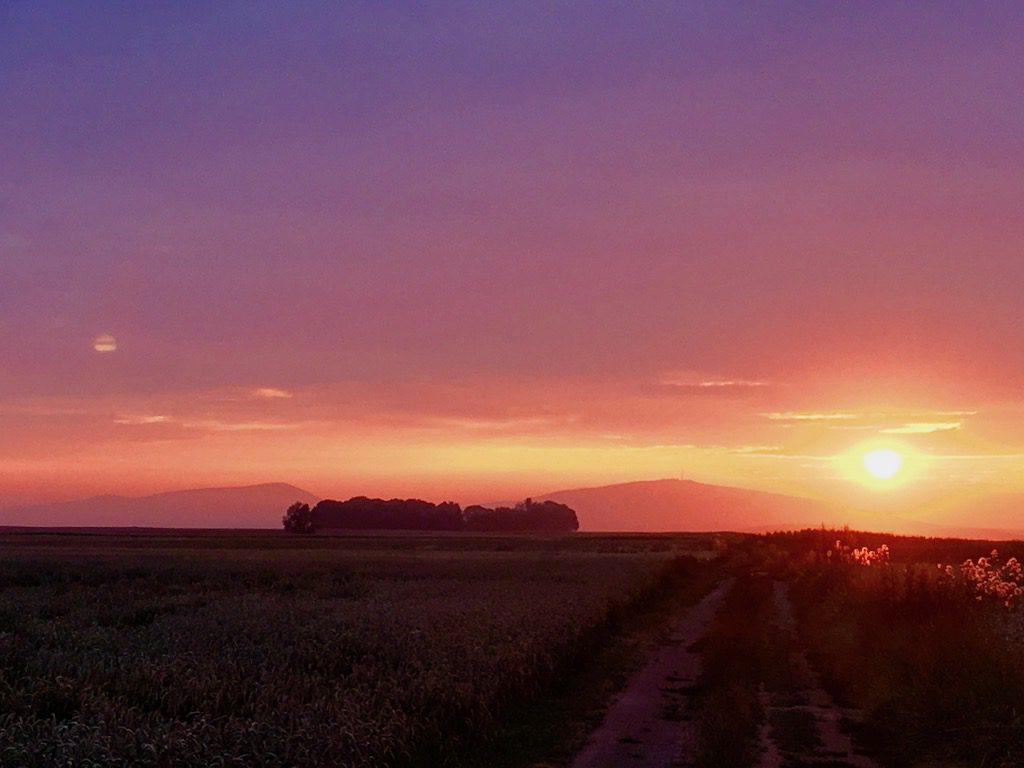 Zachód Słońca nad Ślężą