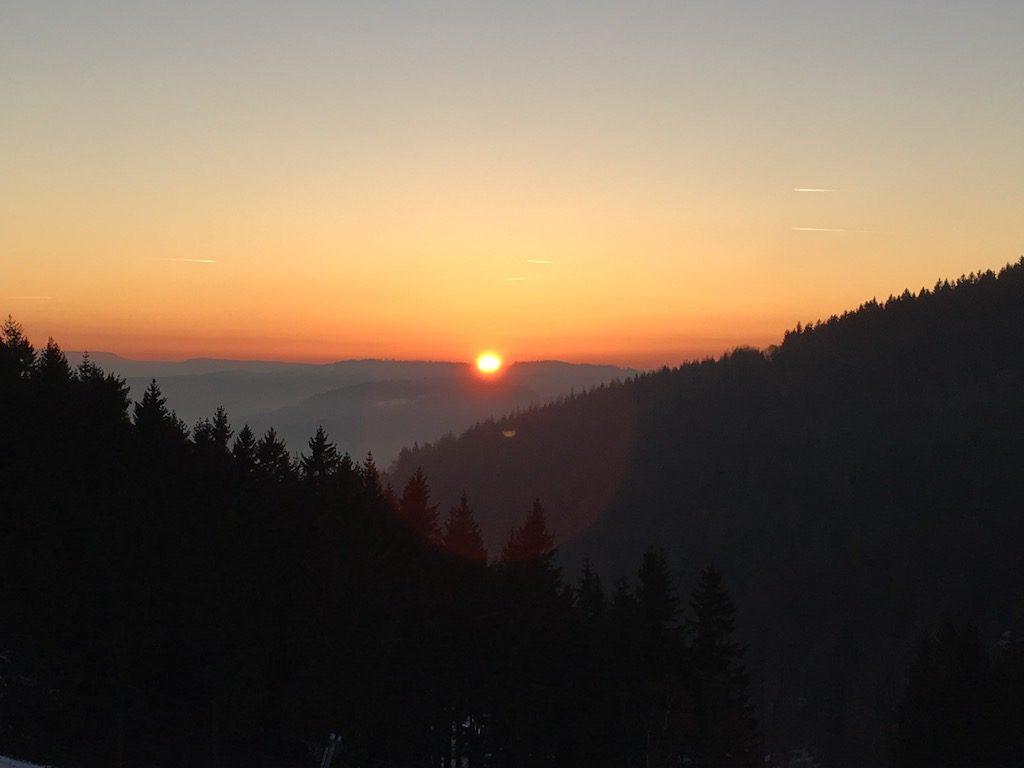 Zachód Słońca na Przełęczy Jugowskiej