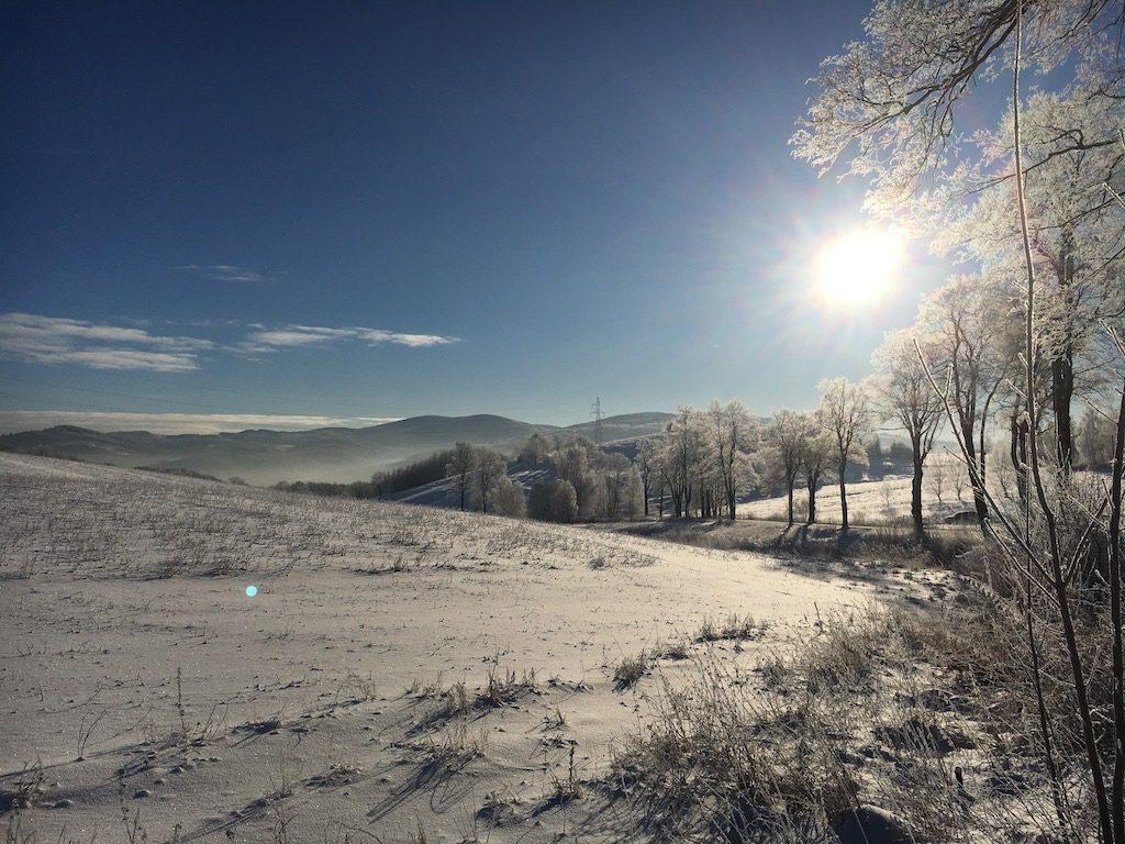 Mroźny poranek w Górach Wałbrzyskich