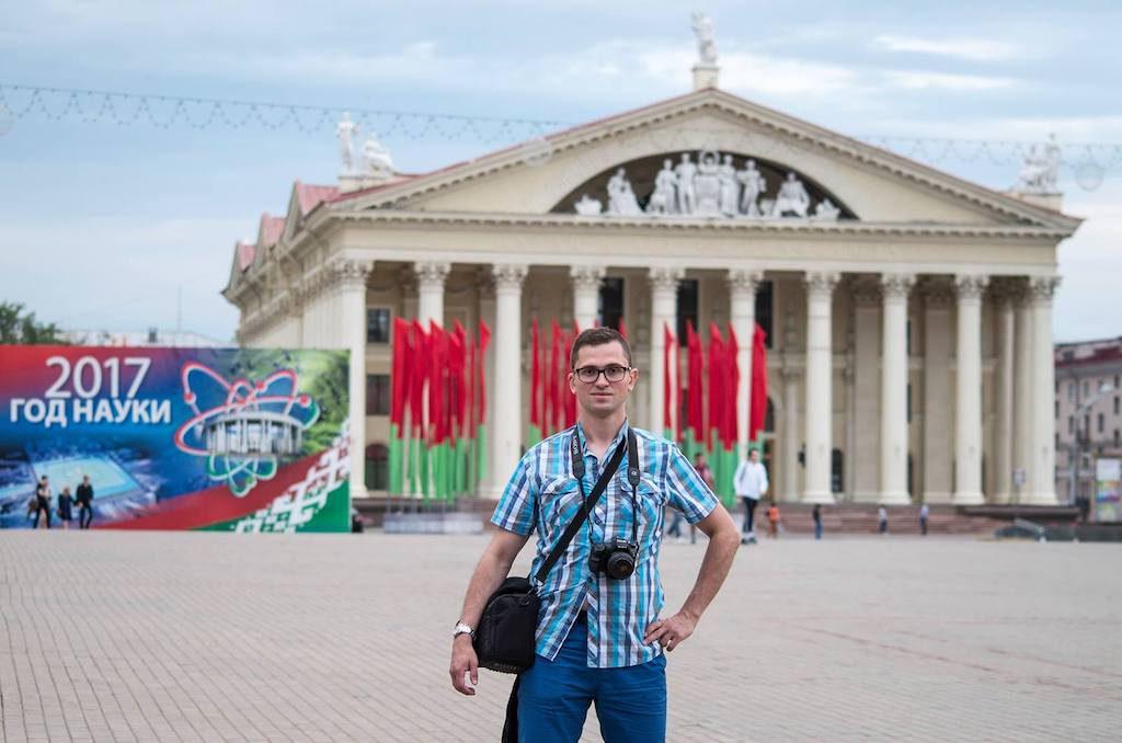 Pozdrawiam z Białorusi, z samego centrum Mińska - Foto: Adrian Sitko