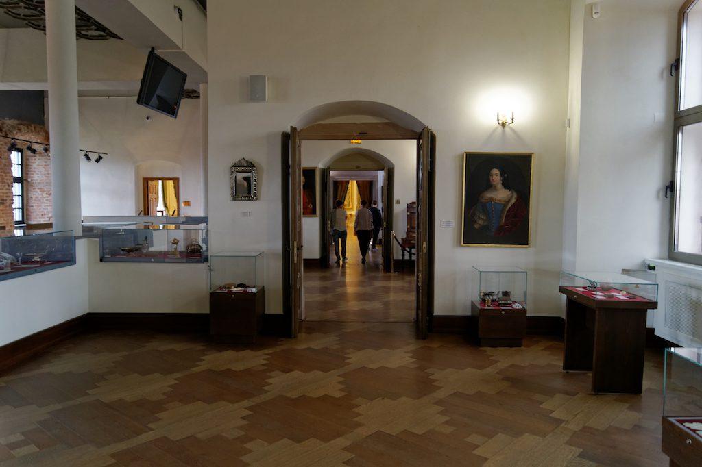 Wnętrza zamku w Mirze