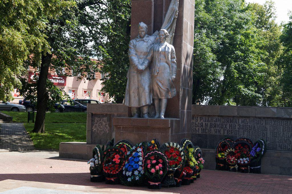 Pomnik poświęcony wielkiej wojnie ojczyźnianej w Nowogródku