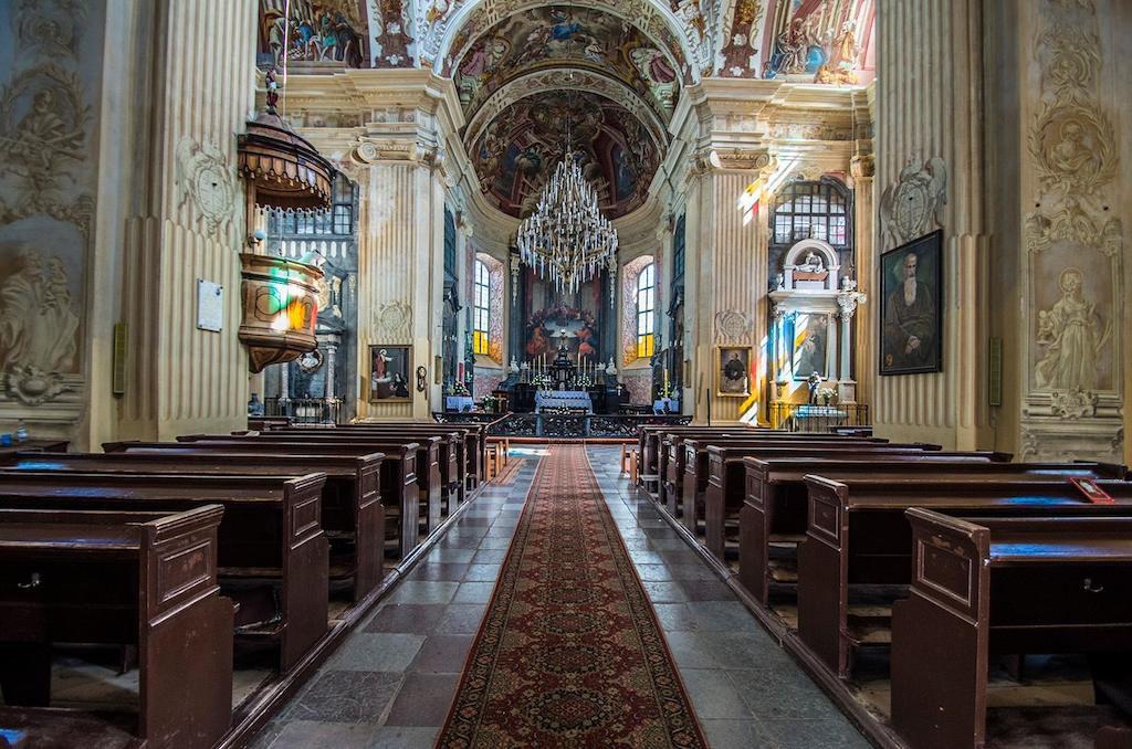 Wnętrze kościoła pw. Bożego Ciała w Nieświeżu - Foto: Adrian Sitko