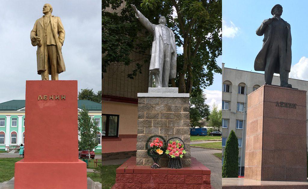 Lenin z Zdzięcioła, Lenin z Nieświeża, Lenin z Grodna