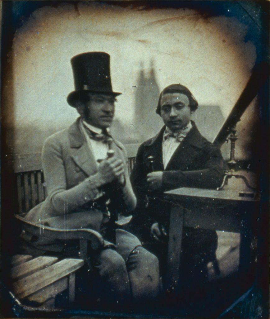 Ojciec i brat H. Krone, zdjęcie wykonane z Wieży Matematycznej, w tle prawdopodobnie wieże kościoła św. Marii Magdaleny - Hermann Krone, 1848 rok