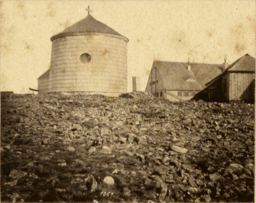 Szczyt Śnieżki, kaplica św. Wawrzyńca - Hermann Krone, ok. 1865 rok