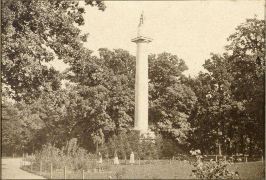 Kolumna Fryderyka Wilhelma II w Parku Szczytnickim - Hermann Krone, 1865 rok
