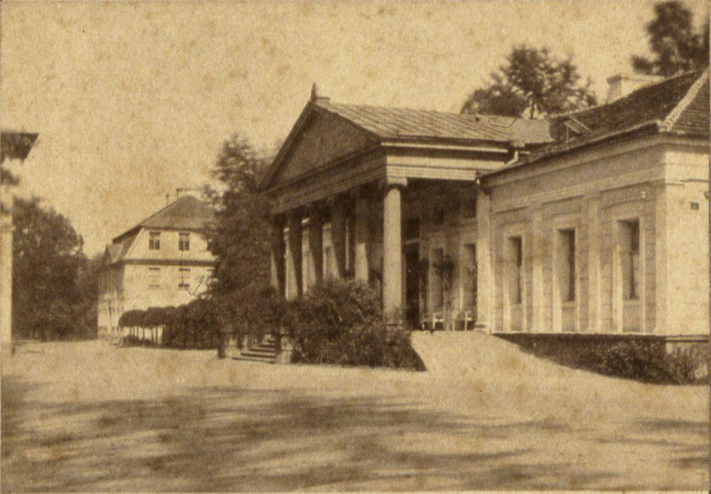 Uzdrowisko Stary Zdrój, dziś dzielnica Wałbrzycha, dawny Dom Zdrojowy - Hermann Krone, ok. 1860 rok