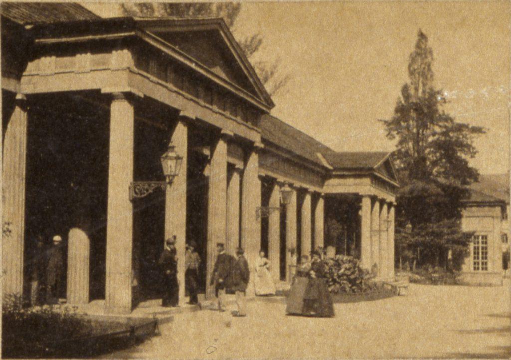 Uzdrowisko Szczawno-Zdrój, dawna hala spacerowa - Hermann Krone, 1865 rok
