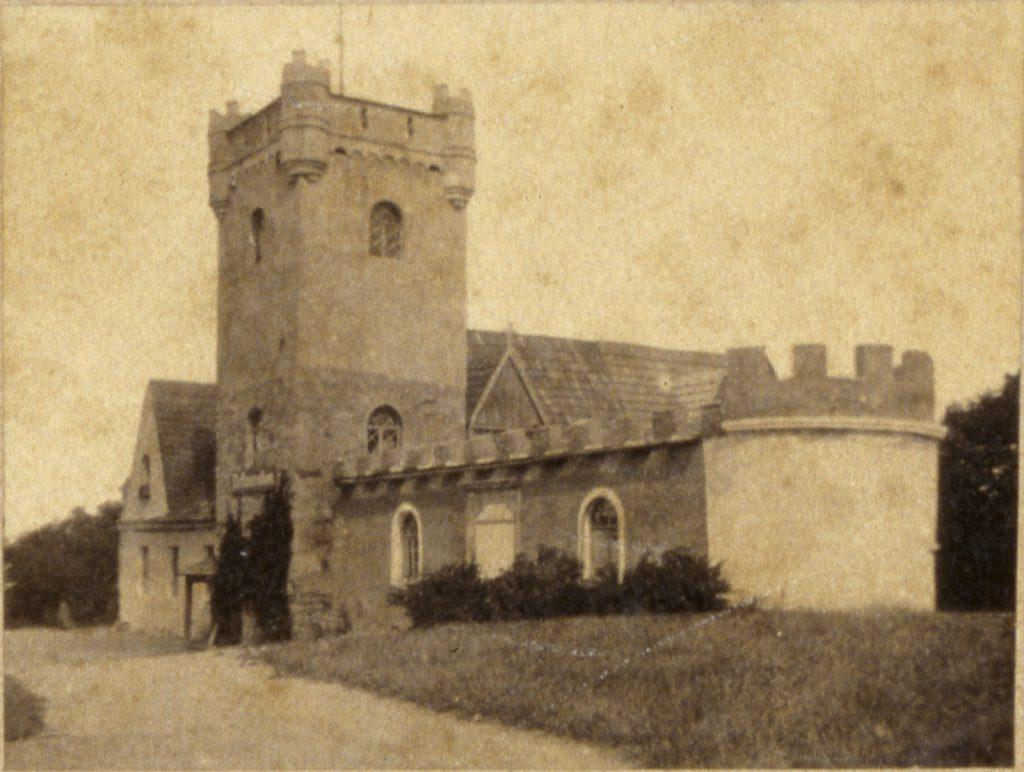Wieża widokowa i restauracja Belweder (nieistniejąca) na Wzgórzu Gedymina, Szczawno-Zdrój - Hermann Krone, ok. 1860 rok