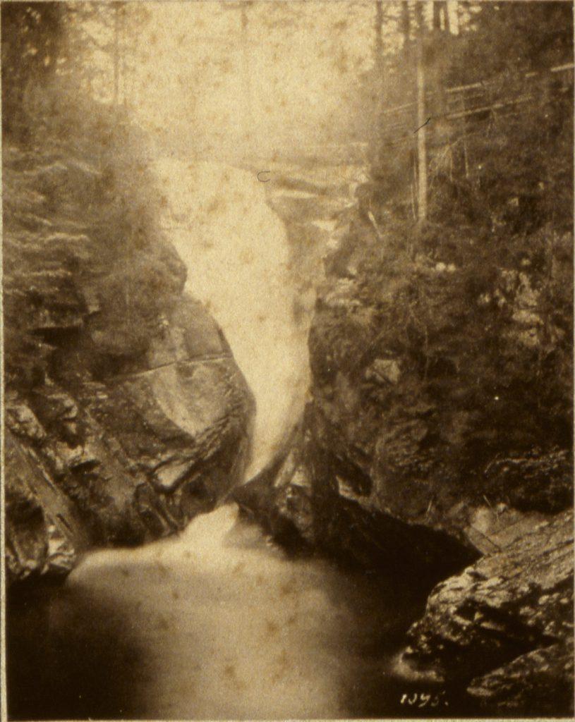 Wodospad Szklarki - Hermann Krone, ok. 1865 rok