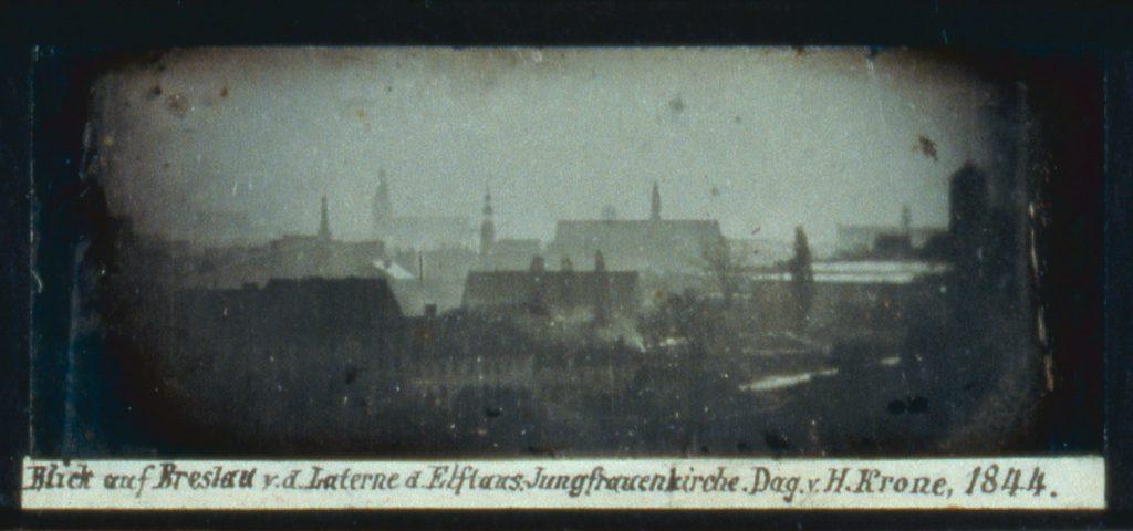 Panorama Wrocławia, dagerotyp wykonany z kościoła Opieki św. Józefa - Hermann Krone, 1844 rok