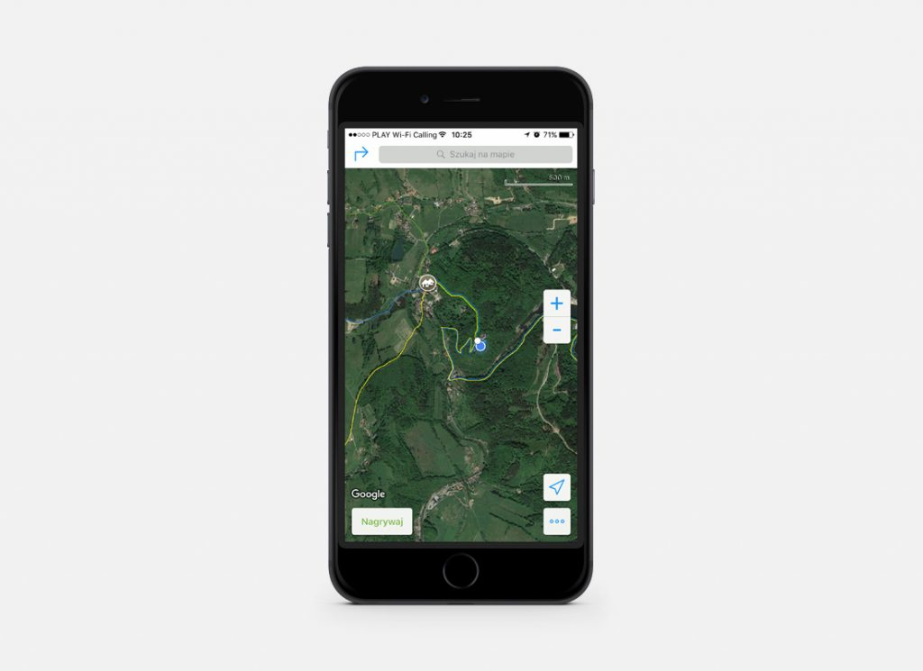 Szlaki naniesione na warstwę map satelitarnych, w mojej opinii najlepsza kombinacja