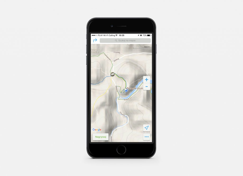 Aplikacja mobilna Mapa Turystyczna - Szlaki naniesione na warstwę map terenowych