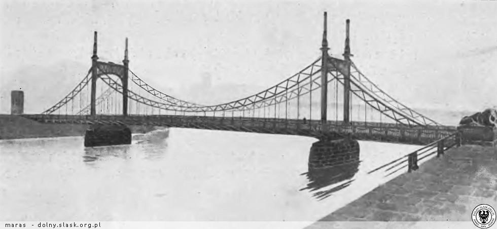 Jedna z niezrealizowanych koncepcji Mostu Grunwaldzkiego - Źródło: dolny-slask.org.pl