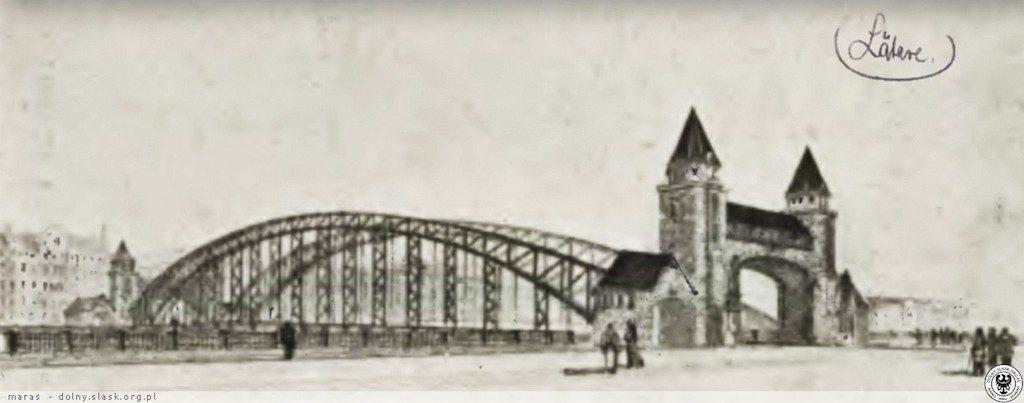 Kolejna z niezrealizowanych koncepcji Mostu Grunwaldzkiego - Źródło: dolny-slask.org.pl