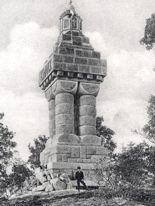 Kolumna (wieża) Bismarcka w Staniszowie - Źródło: dolny-slask.org.pl