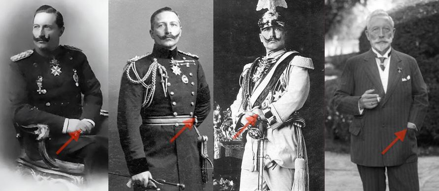 Cesarz Wilhelm II starał się ukrywać przed obiektywem swoją mniejszą i niedowładną rękę - Sekrety światowych przywódców i polityków