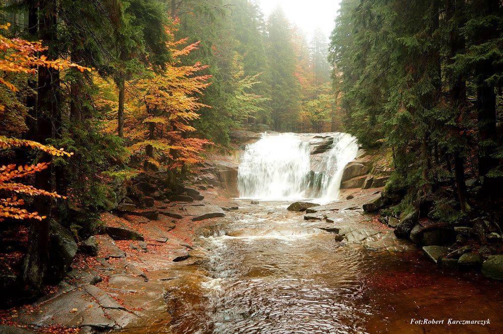 Wodospad Mumlawy (Mumlavský vodopád) w czeskiej części Karkonoszy - Foto: Robert Karczmarczyk