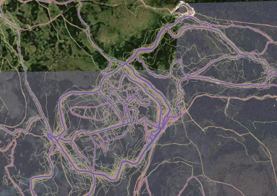 Jakuszyce, Góry Izerskie, popularne miejsce do biegania na nartach biegowych - Źródło: labs.strava.com