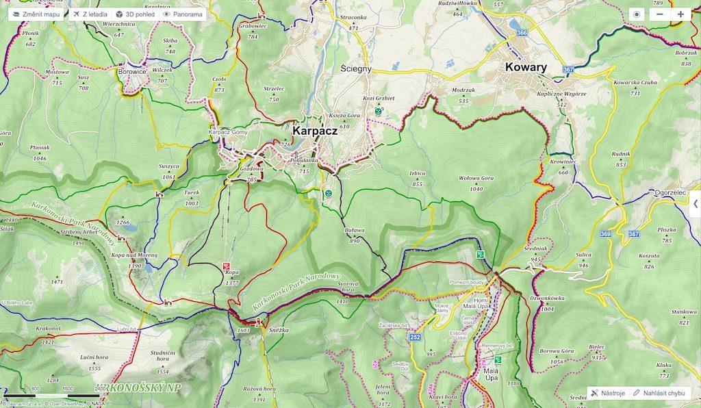 Mapy.cz – czeskie mapy przydatne również w Polsce
