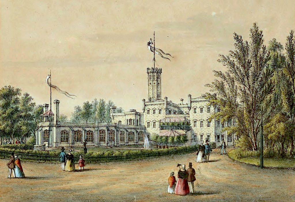 Pałac Królewski w Mysłakowicach, rezydencja króla pruskiego Fryderyka Wilhelma III - Źródło: Śląska Biblioteka Cyfrowa