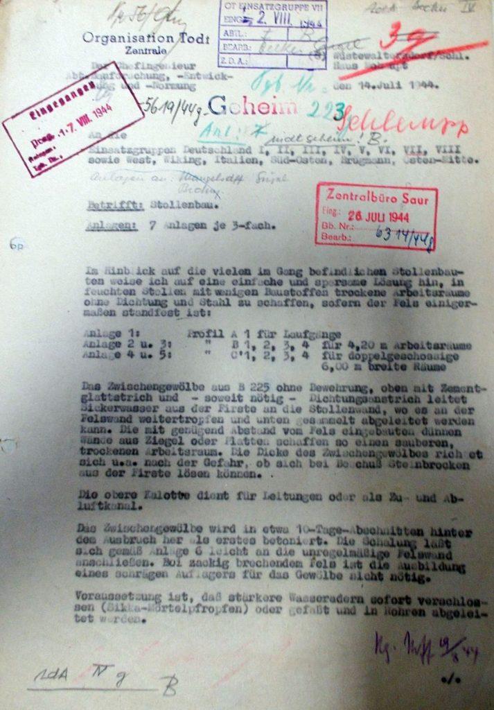 Pismo z domu Mohaupta - To tu opracowano podziemia Riese - Pierwsza strona