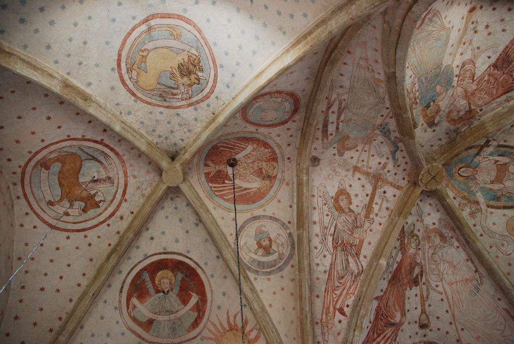 Sklepienie kościoła św. św. Piotra i Pawła w Lubiechowej – Fot. Jolanta Szczepańska medievalis.przewodnikwroclaw.eu