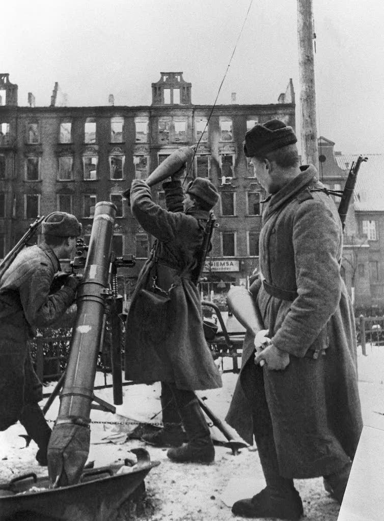 Moździerz 120 mm, prawdopodobnie ul. Krakowska