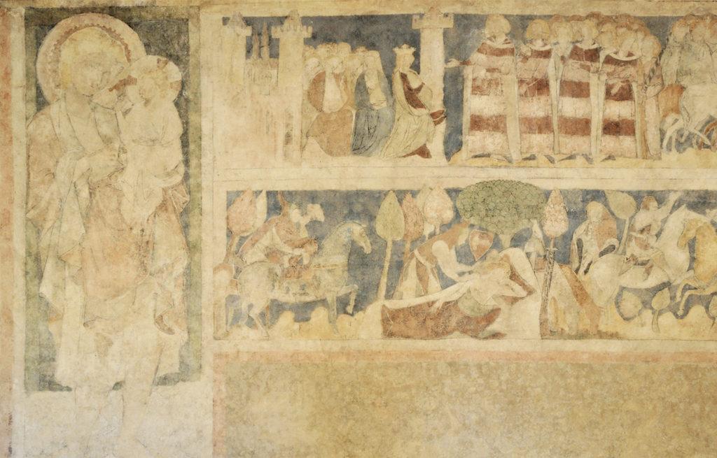 Malowidła z Wieży Książęcej w Siedlęcinie – Fot. Artur Wosz