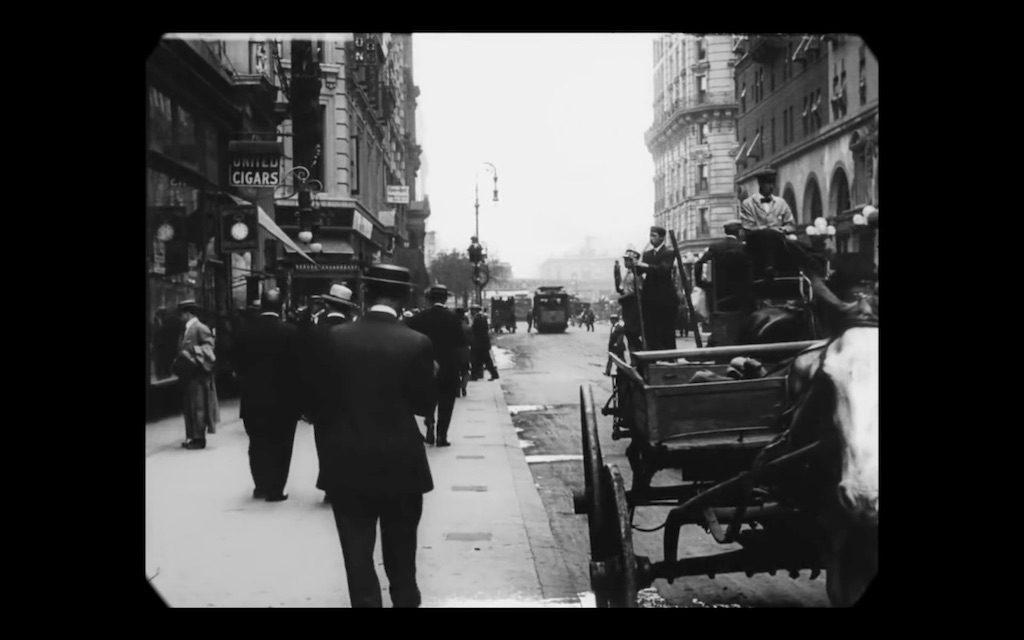 Kadr z filmu z 1911 roku - Nowy Jork na początku XX wieku