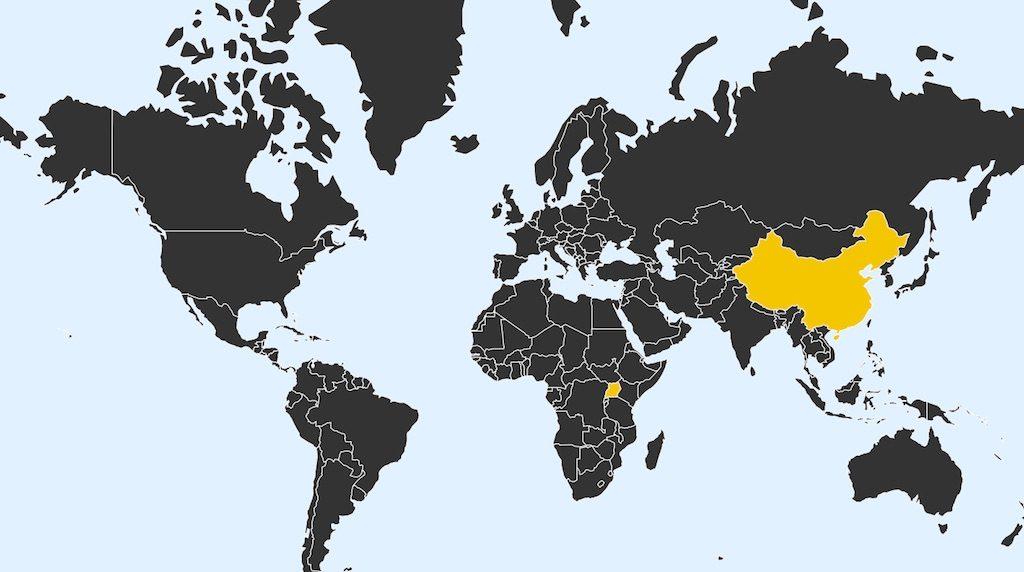 Zrzut ekranu, mapa narodzin dzieci na świecie – Źródło: neal.fun