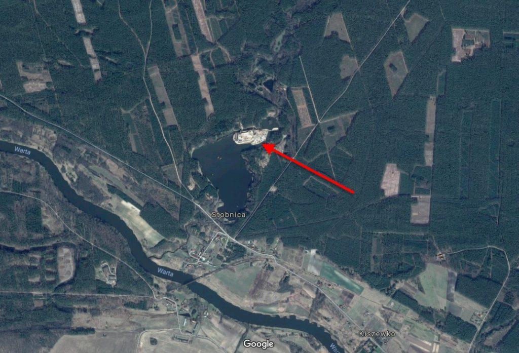 Czy ktoś buduje zamek w Puszczy Noteckiej? – Źródło: Google Maps